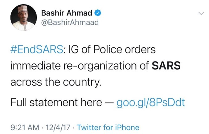 IG of Police orders immediate re-organization of SARS across the country
