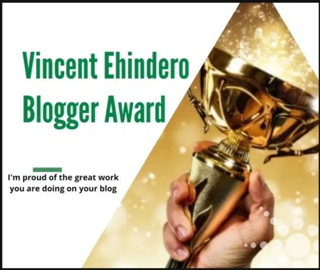 Vincent Ehindero Blogger Award